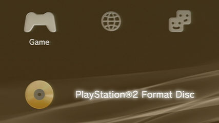 PS3 load screen for PS2 game